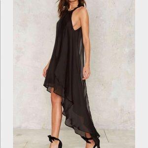 OML | Hi Lo Black Dress